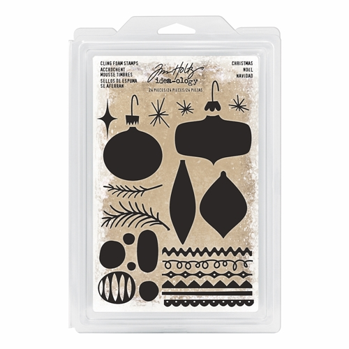 Tim Holtz Idea-ology CHRISTMAS Cling Foam Stamps TH93649 Preview Image