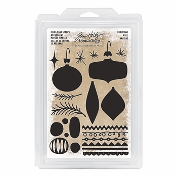 Tim Holtz Idea-ology CHRISTMAS Cling Foam Stamps TH93649