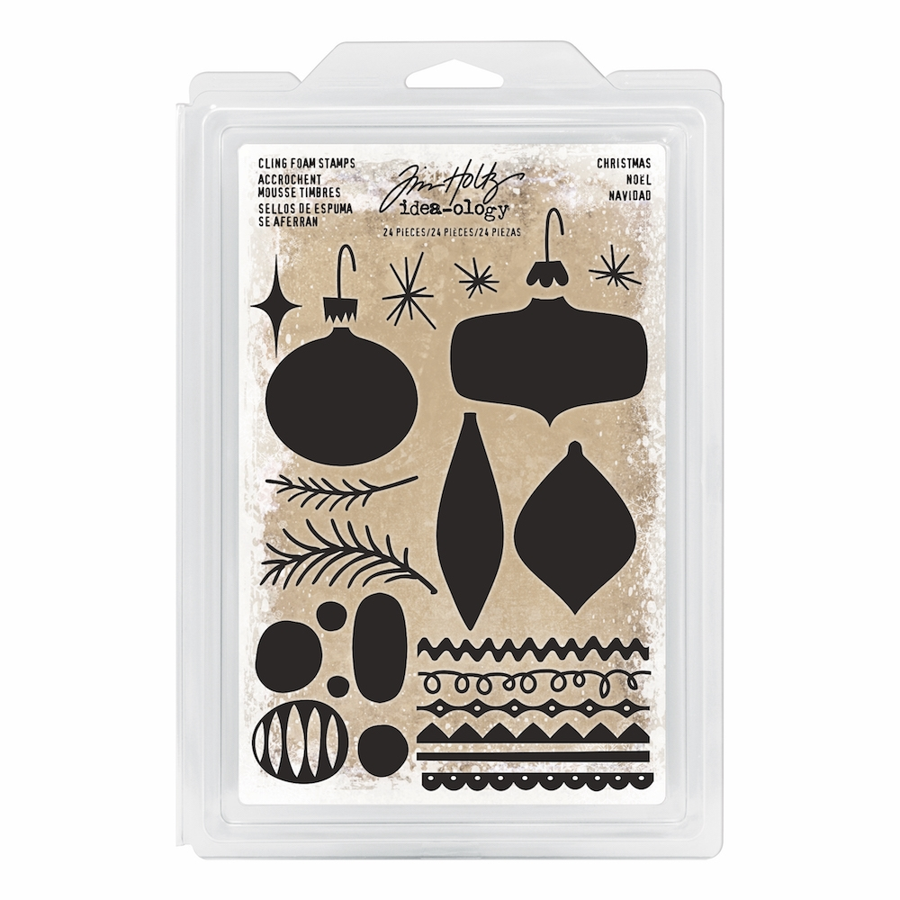 Tim Holtz Idea-ology CHRISTMAS Cling Foam Stamps TH93649 zoom image