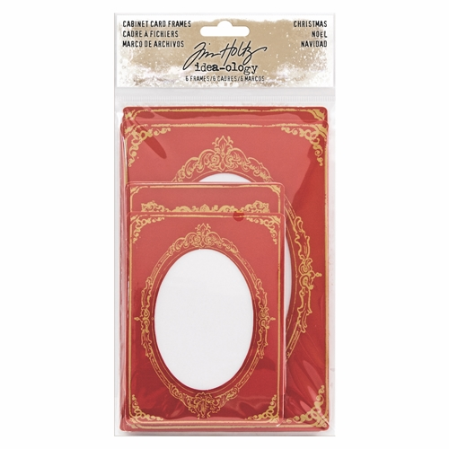 Tim Holtz Idea-ology CHRISTMAS CABINET CARD FRAMES TH93653 Preview Image