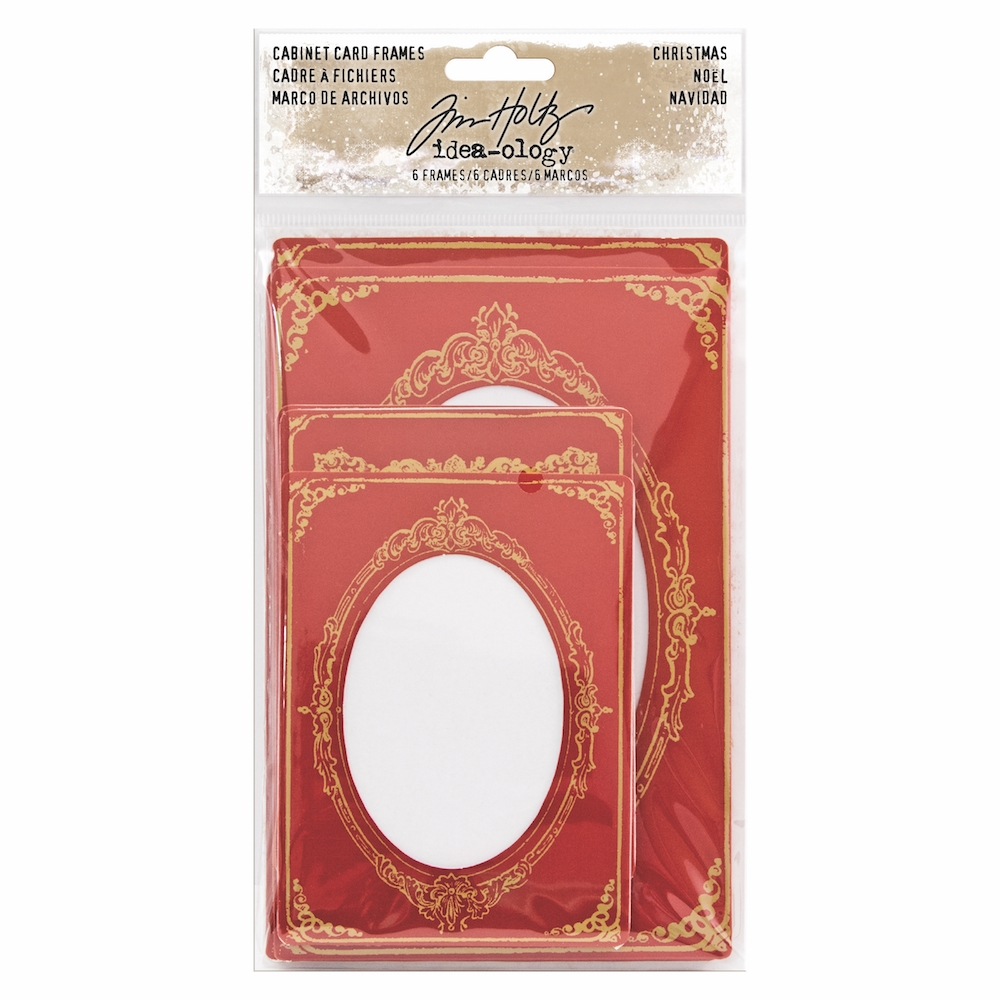 Tim Holtz Idea-ology CHRISTMAS CABINET CARD FRAMES TH93653 zoom image