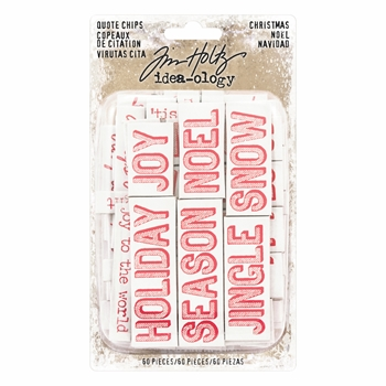 Tim Holtz Idea-ology CHRISTMAS QUOTE CHIPS Paperie TH93655*
