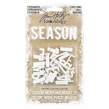 Tim Holtz Idea-ology CHRISTMAS TYPOGRAPHY Findings TH93656