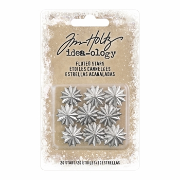 RESERVE Tim Holtz Idea-ology FLUTED STARS Findings TH93660