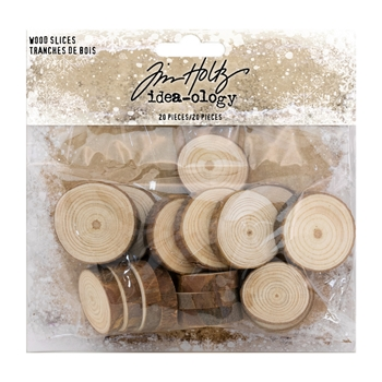 Tim Holtz Idea-ology WOOD SLICES Findings TH93662*