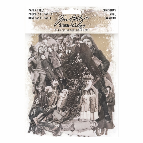 Tim Holtz Idea-ology CHRISTMAS PAPER DOLLS Paperie TH93665 Preview Image