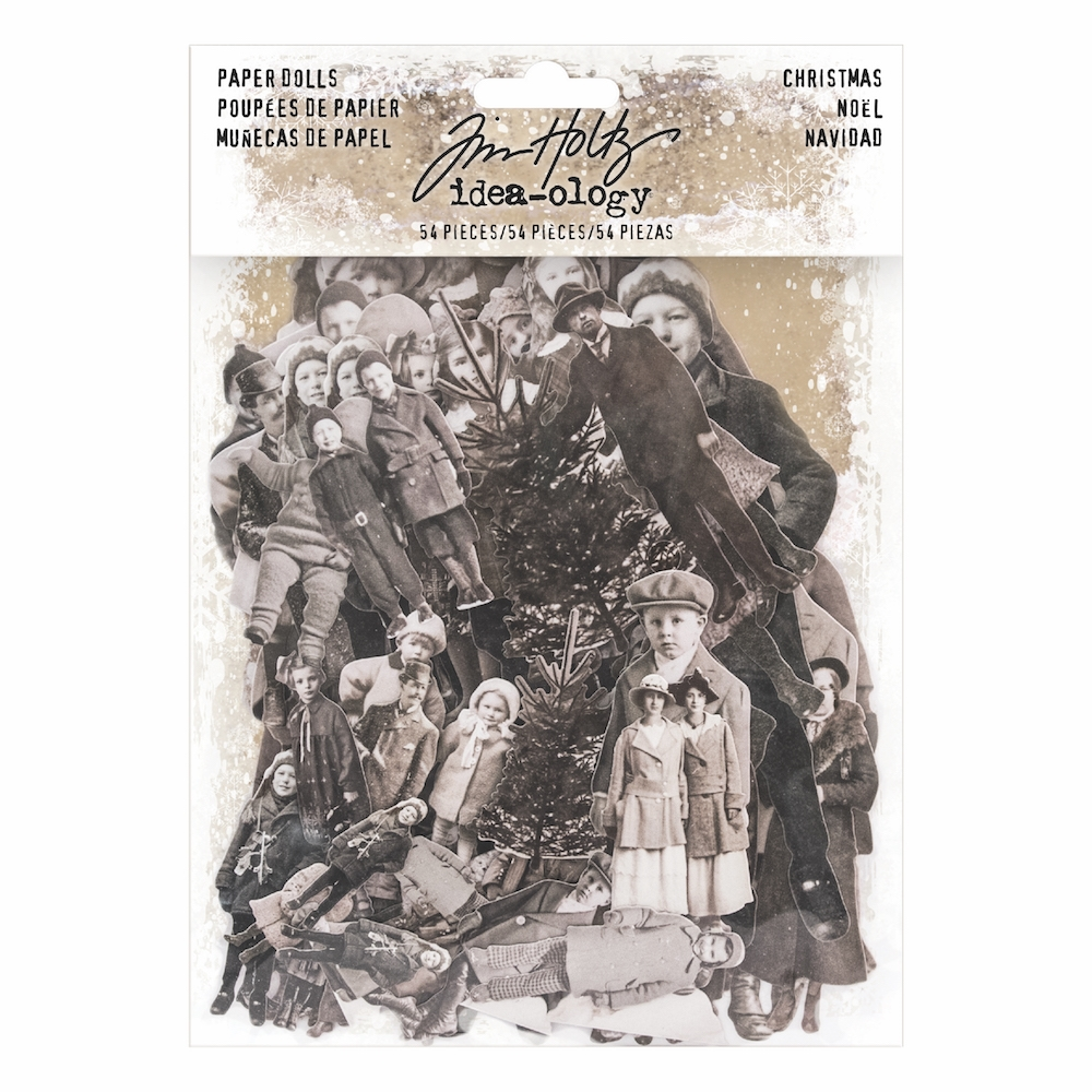 Tim Holtz Idea-ology CHRISTMAS PAPER DOLLS Paperie TH93665 zoom image