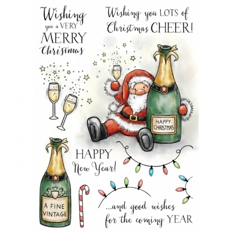 Wild Rose Studio Boozy Santa Stamp Set
