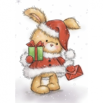 Wild Rose Studio CHRISTMAS BUNNY Clear Stamp Set CL511