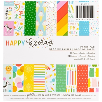 Pebbles Inc. HAPPY HOORAY 6x6 Inch Paper Pad 732622