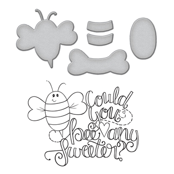 SDS-104 Spellbinders BEE ANY SWEETER Cling Stamp and Die Set Happy Grams 4 Collection by Tammy Tutterow