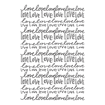 SBS-153 Spellbinders NOTHING BUT LOVE Cling Stamp Set Happy Grams 4 Collection by Tammy Tutterow