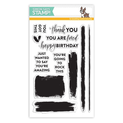 Simon Says Clear Stamps BRUSH STROKE MESSAGES SSS101711 Preview Image