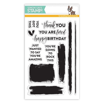 Simon Says Clear Stamps BRUSH STROKE MESSAGES SSS101711