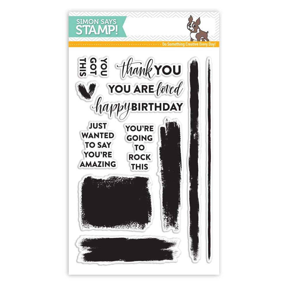 SSS Brush Stroke Messages Stamps