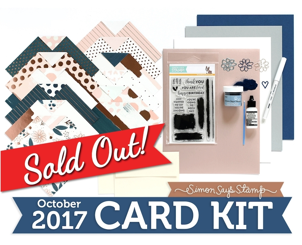 SSS October 2017 Card Kit: Brushstroke Messages