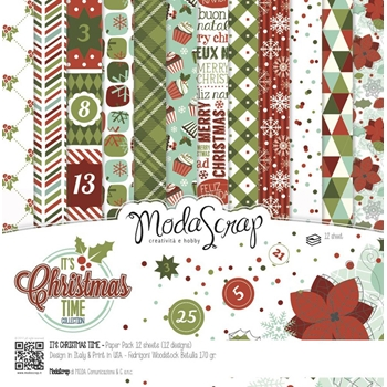 ModaScrap ITS CHRISTMAS TIME 6x6 Paper ICTPP15