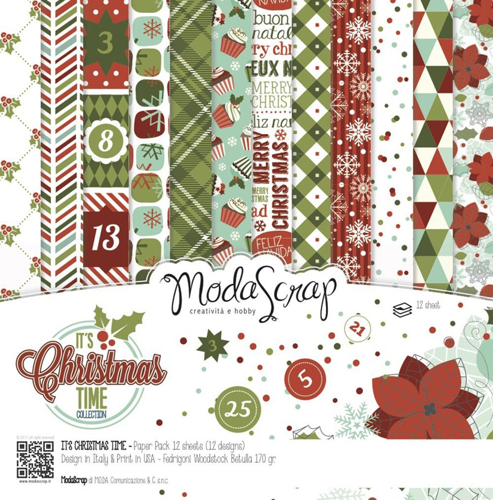ModaScrap IT'S CHRISTMAS TIME 6x6 Paper ICTPP15 zoom image