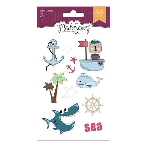 ModaScrap Clear Stamps SAILORS LIFE MSTC7004* Preview Image