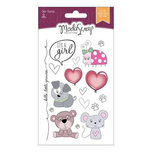ModaScrap Clear Stamps COLOR OF PUPPIES GIRL MSTC7003 zoom image