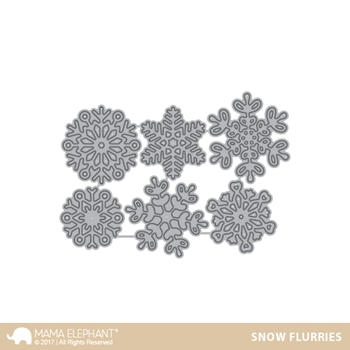 Mama Elephant SNOW FLURRIES Creative Cuts Steel Die Set