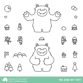 Mama Elephant Clear Stamps ME AND MY YETI