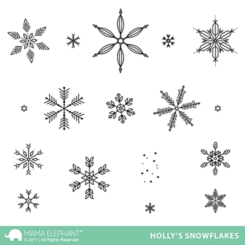 Mama Elephant Clear Stamps HOLLY'S SNOWFLAKES