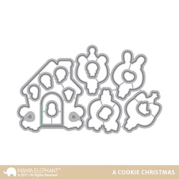 Mama Elephant A COOKIE CHRISTMAS DIE Creative Cuts Steel Die Set