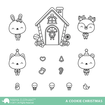 Mama Elephant Clear Stamps A COOKIE CHRISTMAS