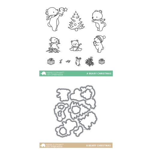 Mama Elephant Clear Stamp and Die MEPT411 A Beary Christmas SET Preview Image