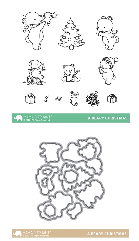 Mama Elephant Clear Stamp and Die MEPT411 A Beary Christmas SET zoom image