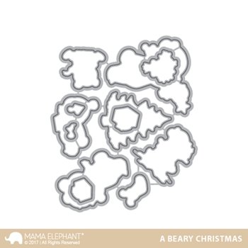 Mama Elephant A BEARY CHRISTMAS DIE Creative Cuts Steel Die Set