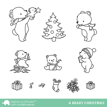 Mama Elephant Clear Stamps A BEARY CHRISTMAS