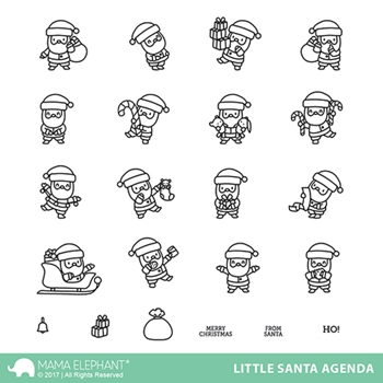 Mama Elephant Clear Stamps LITTLE SANTA AGENDA