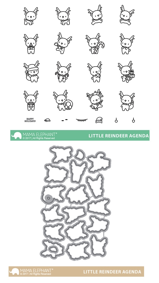 Mama Elephant Clear Stamp and Die MEPT408 Little Reindeer Agenda SET zoom image