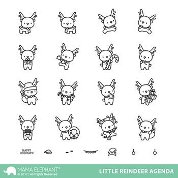 Mama Elephant Clear Stamps LITTLE REINDEER AGENDA