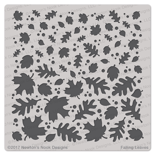 Newton's Nook Designs FALLING LEAVES Stencil NN1709T01 Preview Image