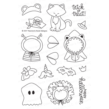 Newton's Nook Designs NEWTON'S COSTUME PARTY Clear Stamp Set NN1709S03