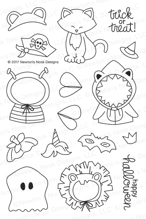 Newton's Nook Designs NEWTON'S COSTUME PARTY Clear Stamp Set NN1709S03 zoom image