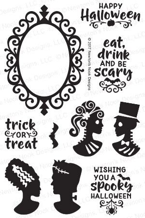 Newton's Nook Designs CREEPY CAMEOS Clear Stamp Set NN1709S02 Preview Image