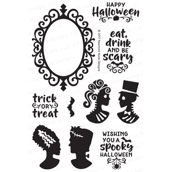 Newton's Nook Designs CREEPY CAMEOS Clear Stamp Set NN1709S02