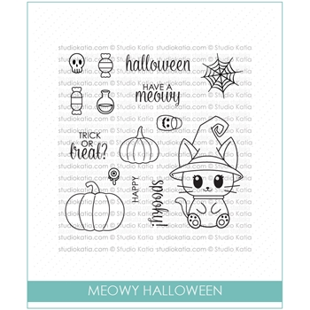 Studio Katia MEOWY HALLOWEEN Clear Stamps STKS031