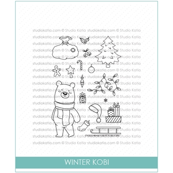 Studio Katia WINTER KOBI Clear Stamps STKS025