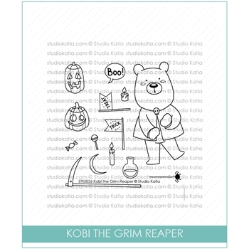 Studio Katia KOBI THE GRIM REAPER Clear Stamps STKS026