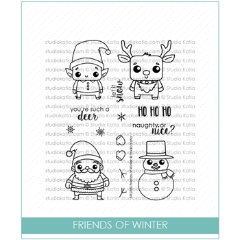 Studio Katia FRIENDS OF WINTER Clear Stamps STKS030