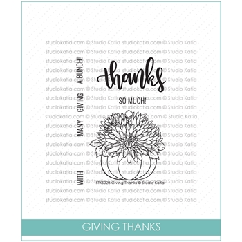 Studio Katia GIVING THANKS Clear Stamps STKS028