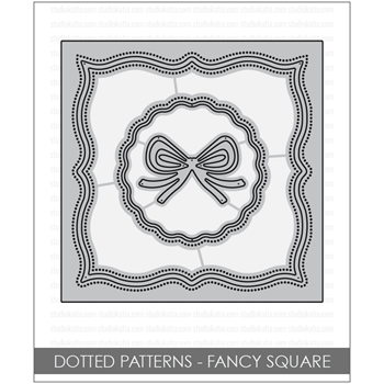 Studio Katia DOTTED PATTERNS FANCY SQUARE Creative Dies STK034