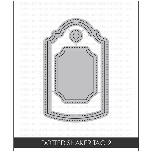 Studio Katia DOTTED SHAKER TAG 2 Creative Dies STK009 Preview Image