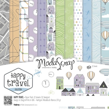 ModaScrap HAPPY TRAVEL 6x6 Paper Pad HIPP15