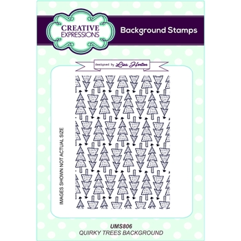 Creative Expressions QUIRKY TREES Background Cling Stamp UMS806